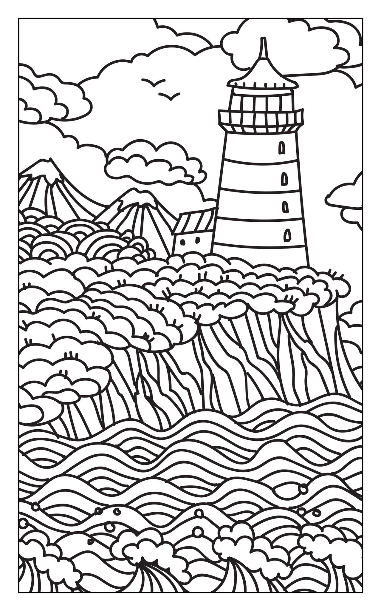 Escape To Calm Adult Coloring Book Travel Size Color With Music