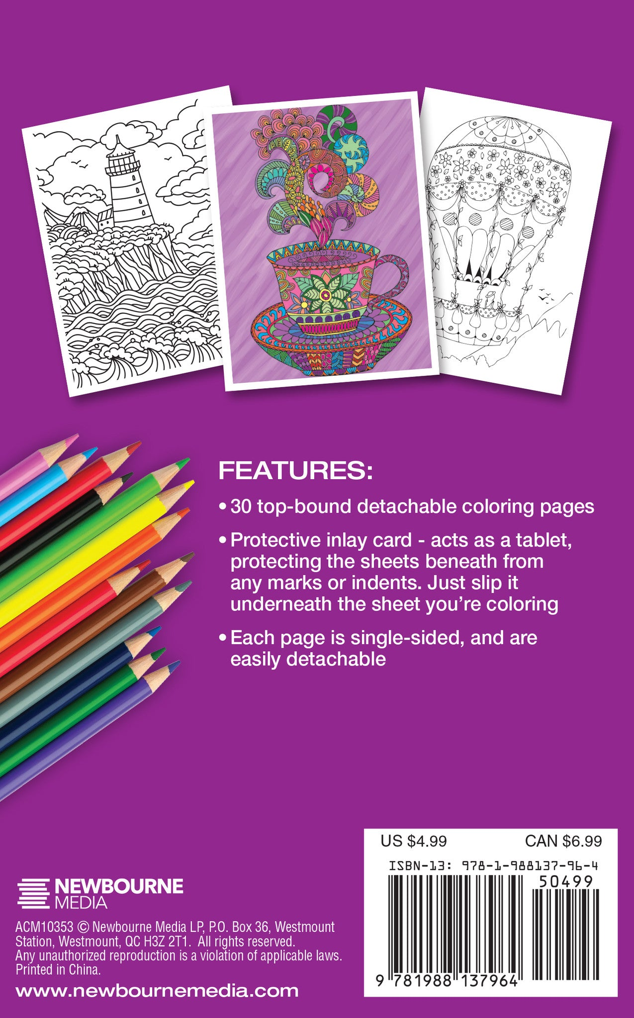 ESCAPE TO CALM Adult Coloring Book Travel Size