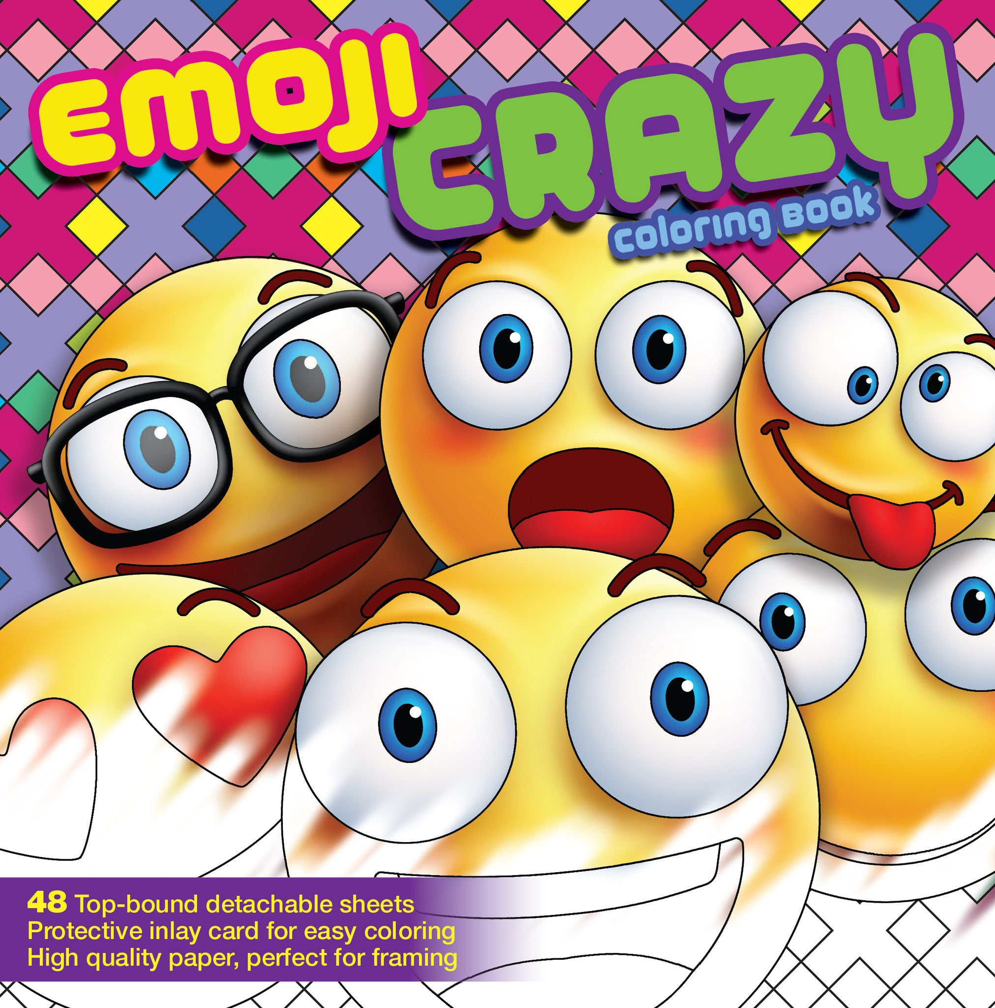 emoji crazy coloring book 48 pages for adults teens and kids