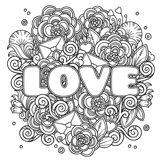 POWER OF LOVE Adult Coloring Book Includes a Calming Music CD