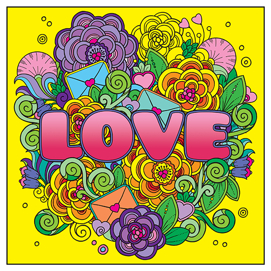 The Power Of Love Adult Coloring Book With Relaxation CD Page 2