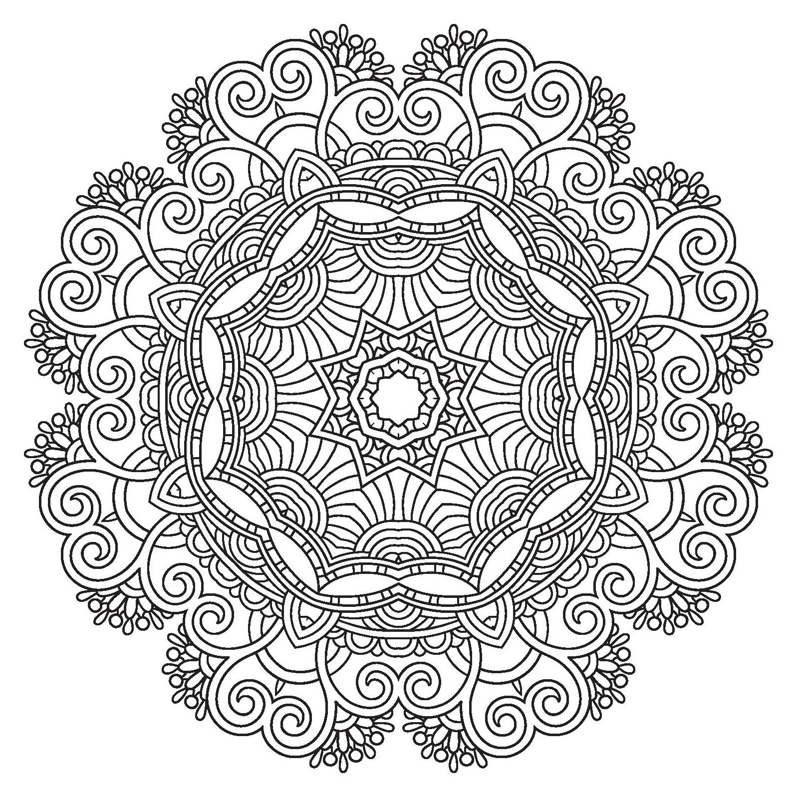 RELAXING MANDALAS Adult Coloring Book Includes Bonus Relaxation CD