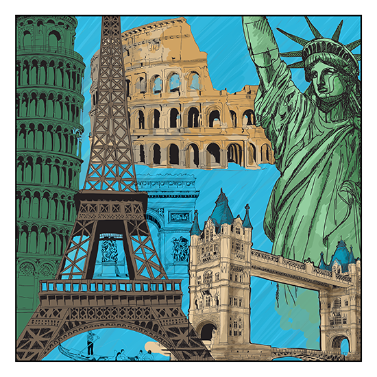 Beautiful Places Adult Coloring Book With Colored Pencils