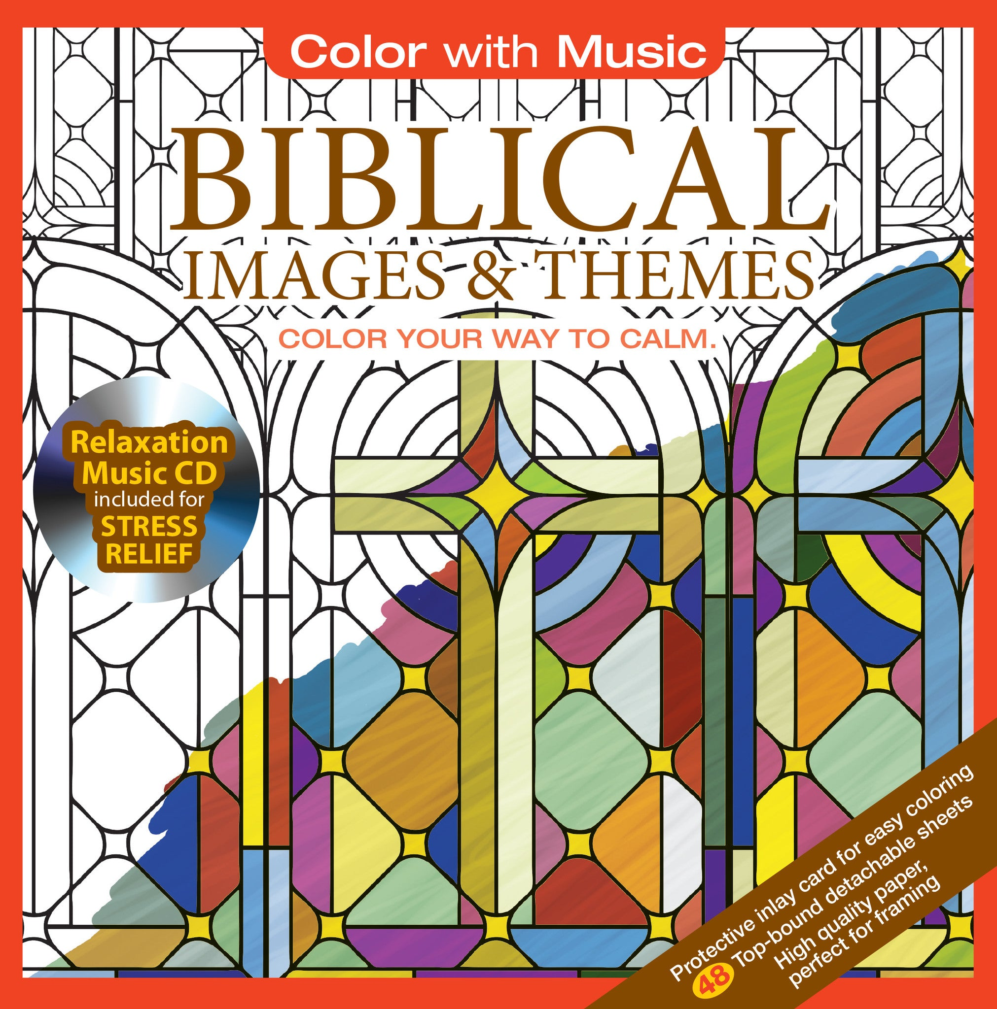Color With Music Biblical Images Themes Adult Coloring Book Cover