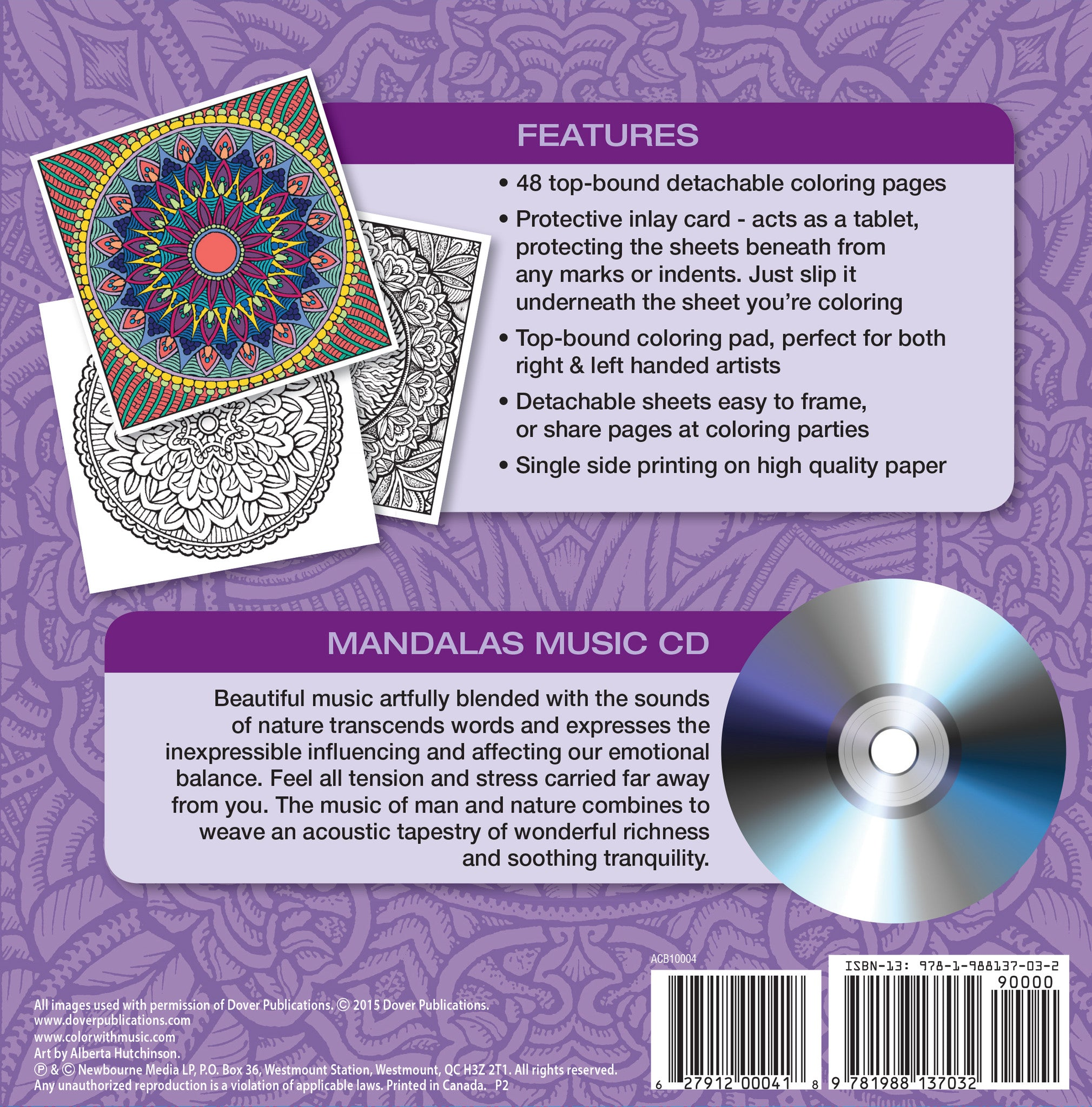 mandalas adult coloring book with relaxation cd color with music. Black Bedroom Furniture Sets. Home Design Ideas