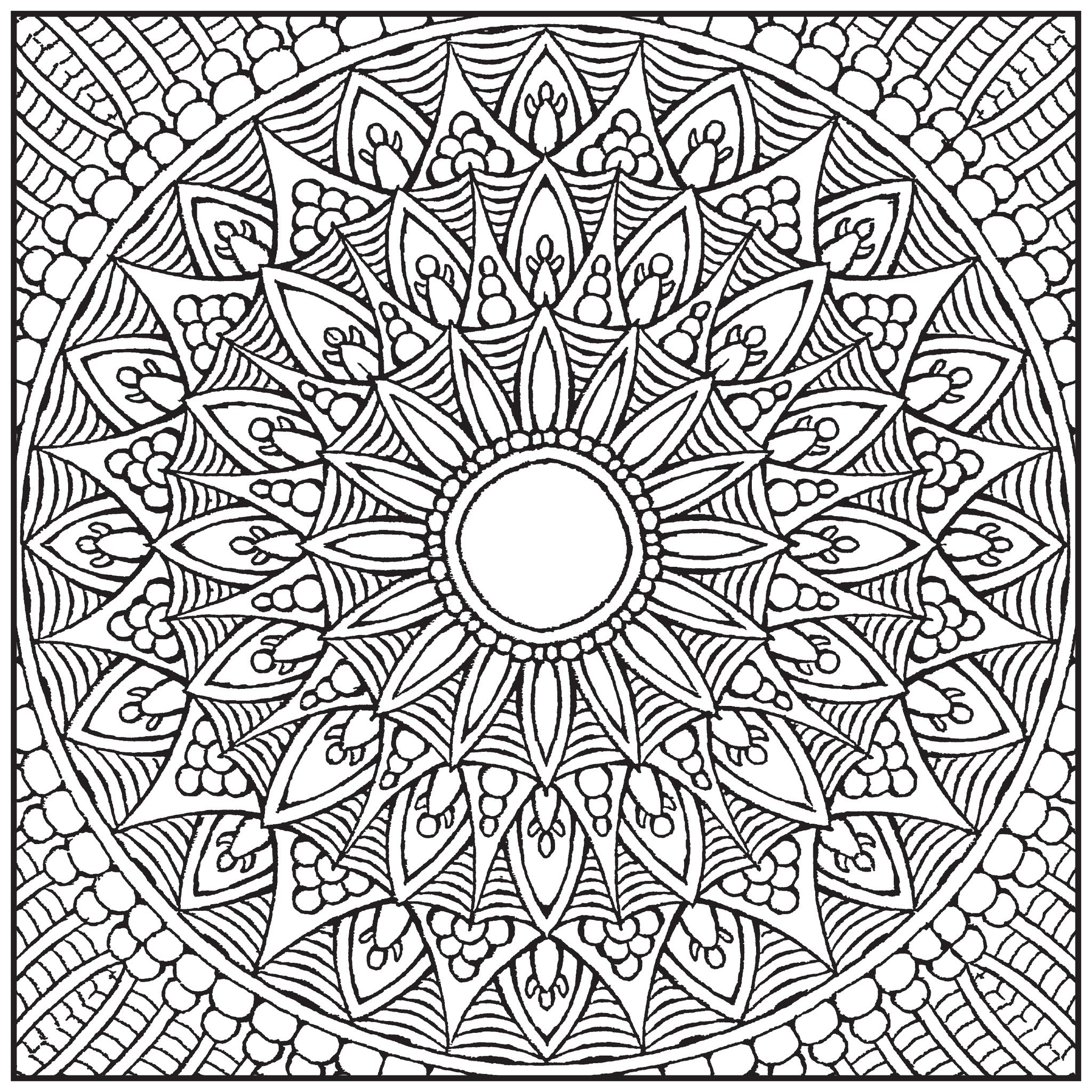Mandalas Adult Coloring Book With Relaxation CD