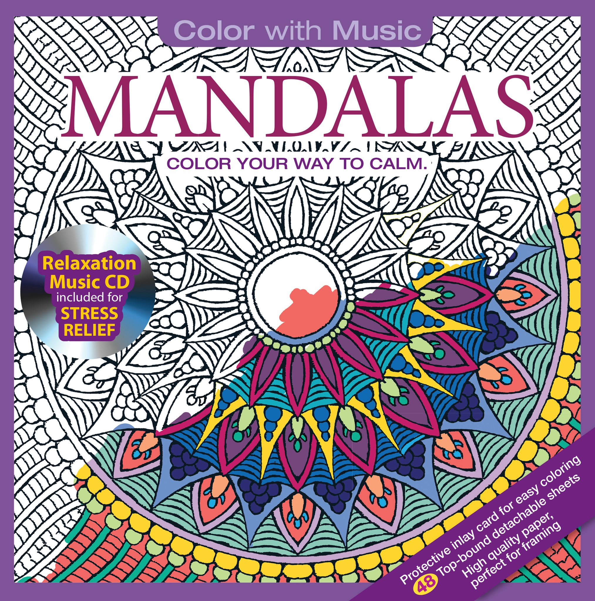 Coloring Book Album Cover : Mandalas Adult Coloring Book With Relaxation CD Color With Music