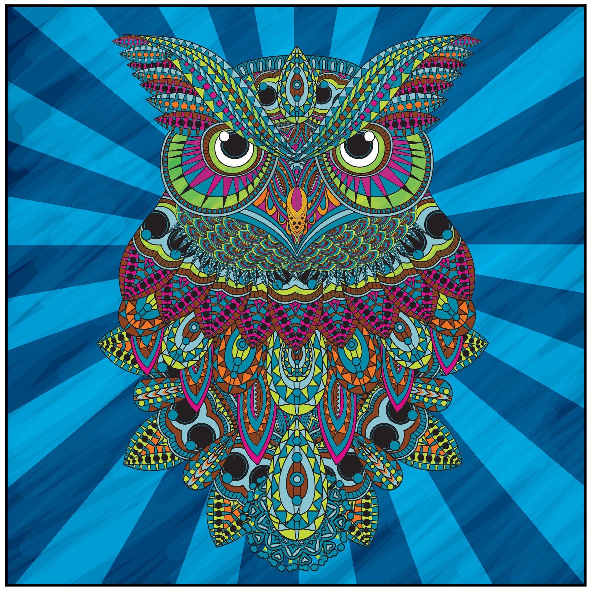 color with music owls of the night adult coloring book colored page