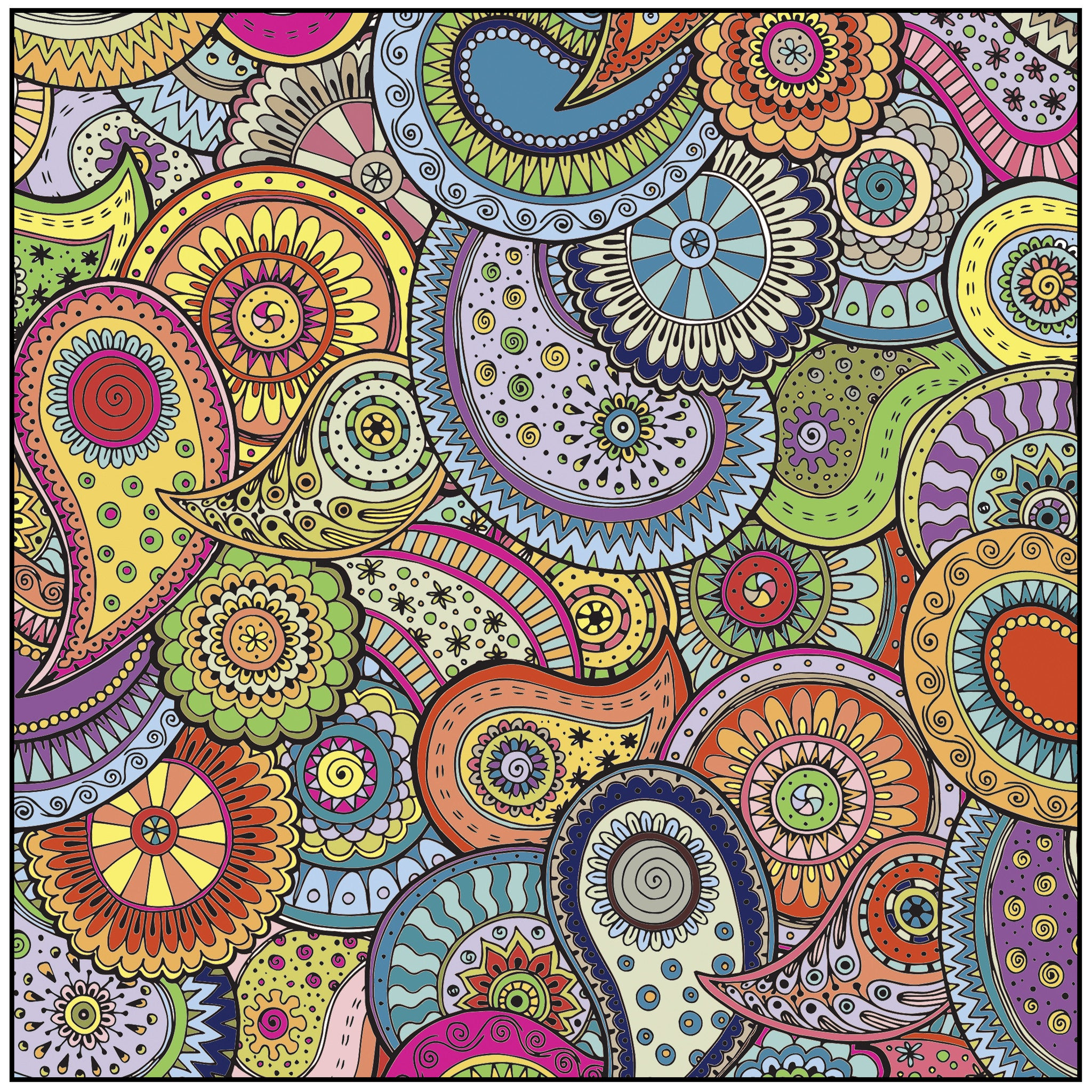 Color With Music Patterns Shapes And Designs Adult Coloring Book Colored Page