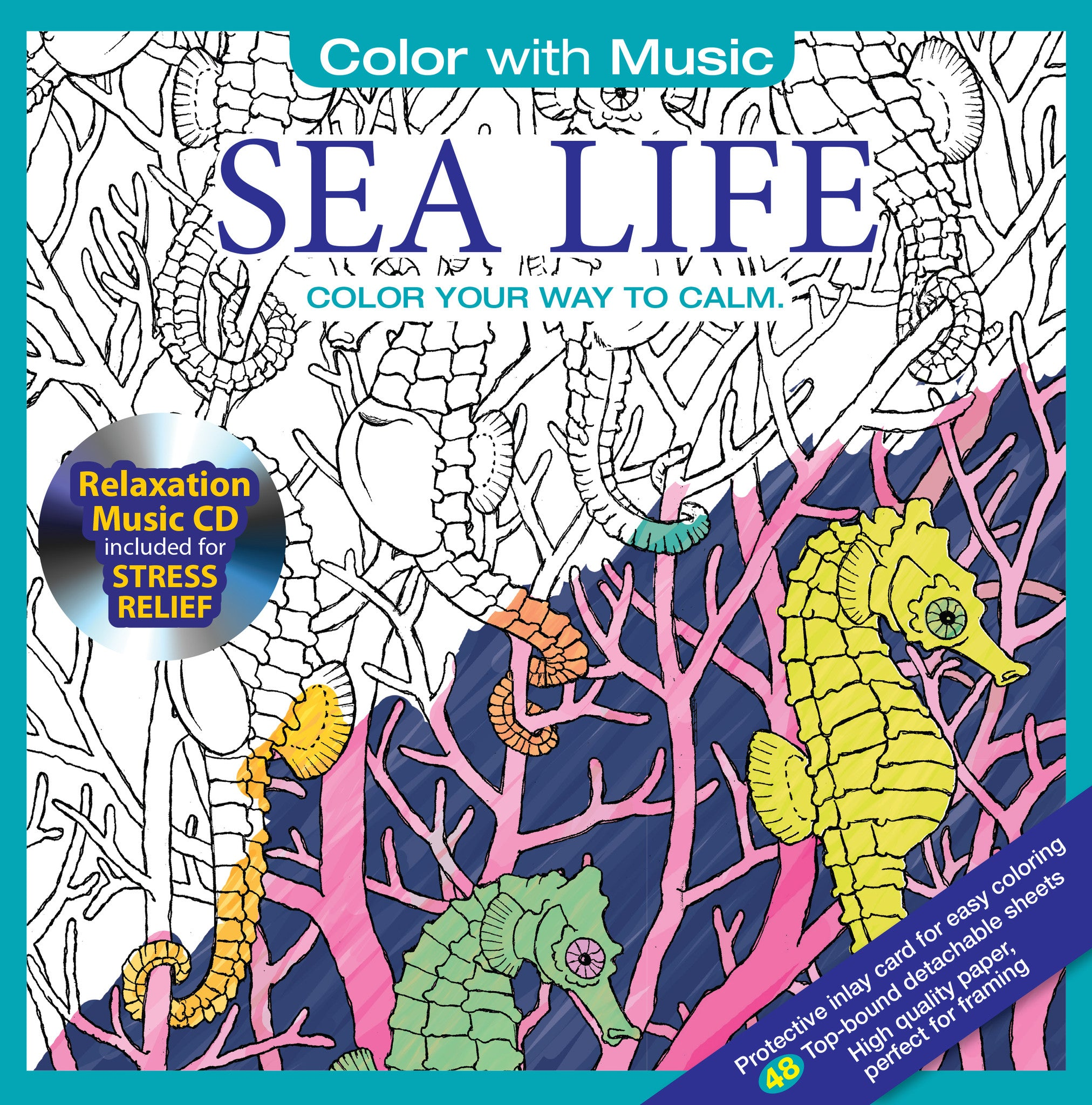 Coloring Book Album Cover : RELAXATION MUSIC CD COLORING BOOKS Color With Music