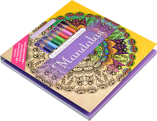 Color With Music Mandalas Adult Coloring Book Colored Pencils 5