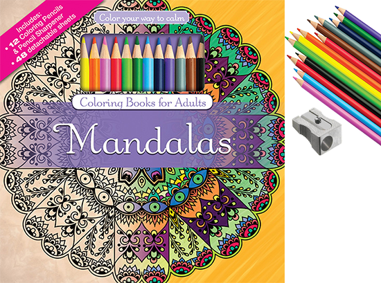 Color With Music Mandalas Adult Coloring Book Colored Pencils 6