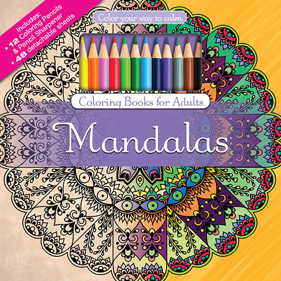 Color With Music Mandalas Adult Coloring Book Colored Pencils Cover