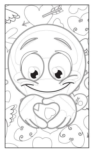 Emoji Love Coloring Book 30 Pages For Adults Teens and Kids
