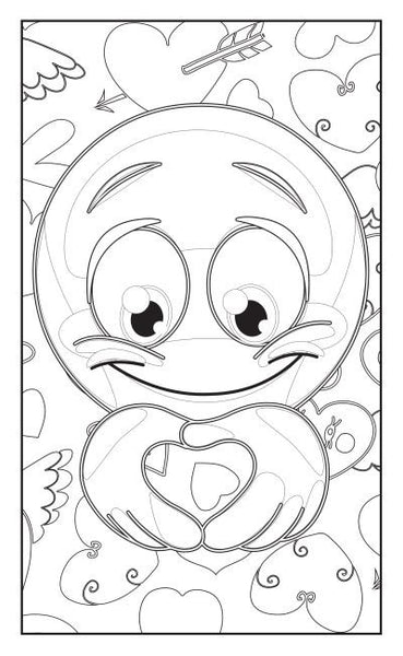 Emoji Love Coloring Book 30 Pages For Adults Teens And