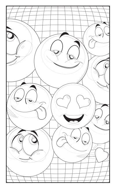 Emoji Love Coloring Book: 30 Pages For Adults, Teens and Kids ...