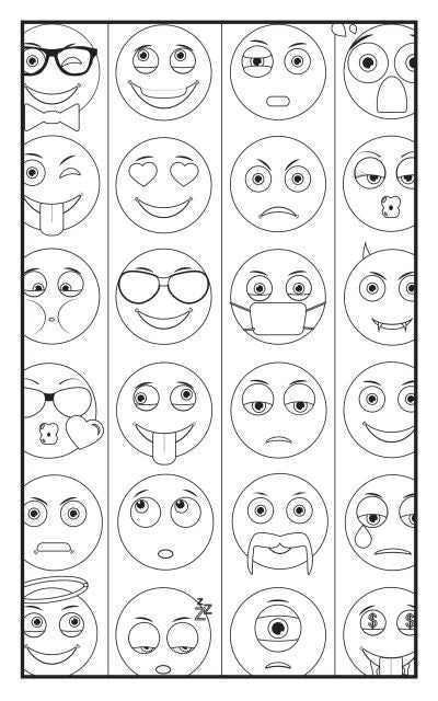 emoji crazy coloring book 30 pages for adults teens and kids travel size - Coloring Books For Teens