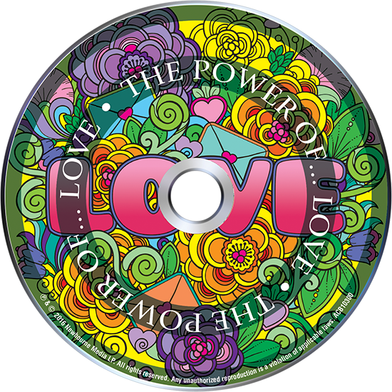 The Power Of Love Adult Coloring Book With Relaxation CD