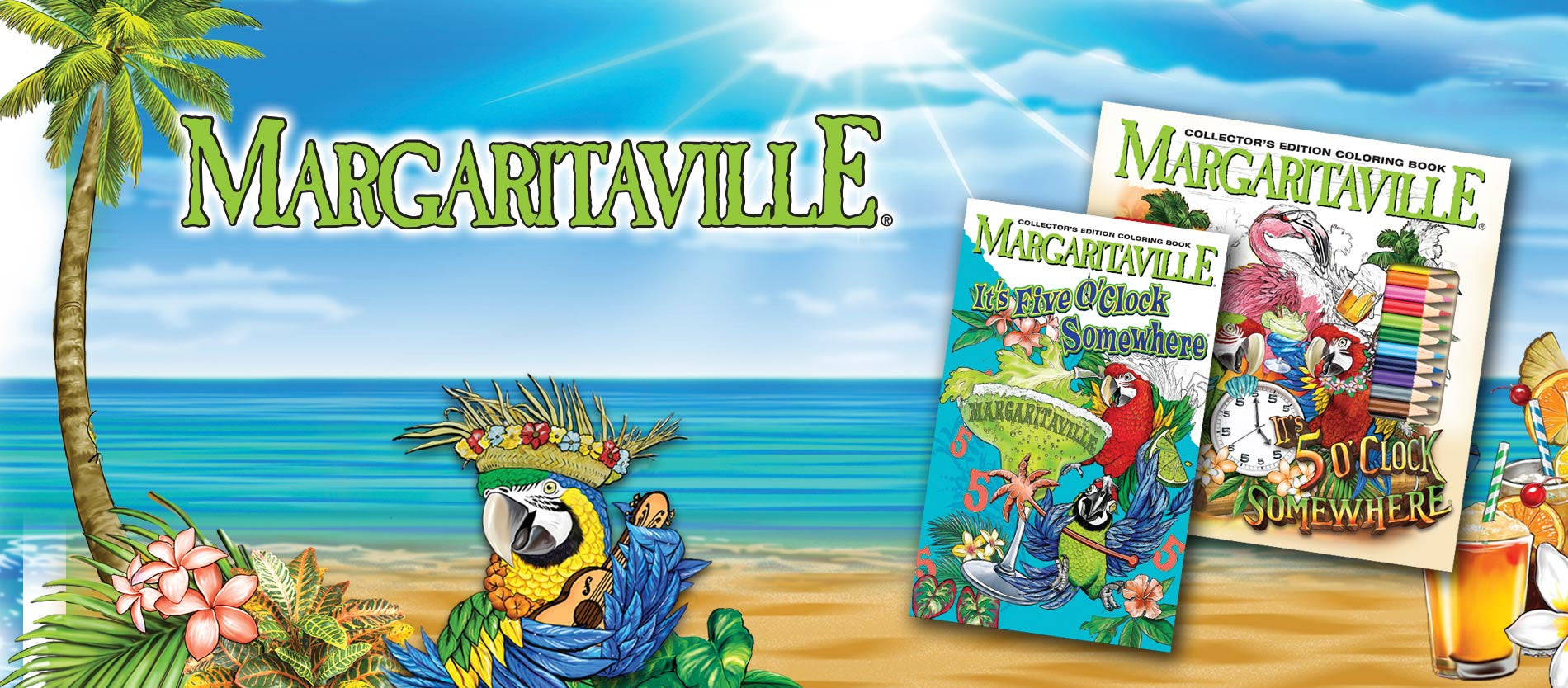 Margaritaville Adult Coloring Books