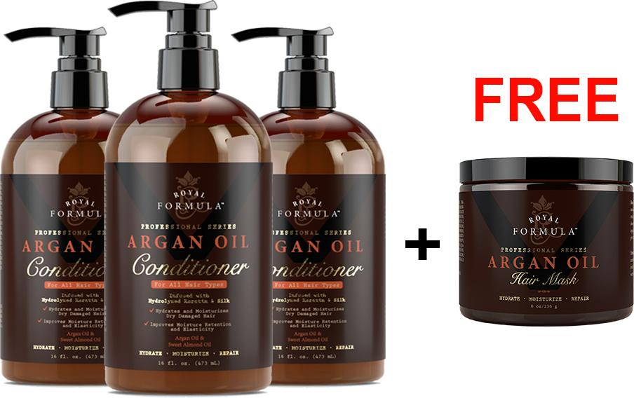Buy 3 x Argan Oil Conditioner + Free Argan Oil Hair Mask