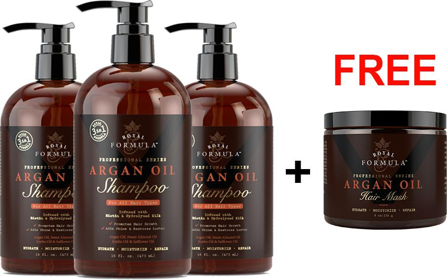 Buy 3 x Argan Oil Shampoo + Free Argan Oil Hair Mask