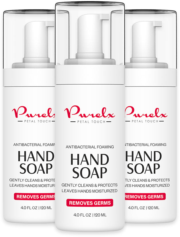 3 Pack - Purelx Antibacterial Hand Soap Foam Sanitizer (4 Oz each)