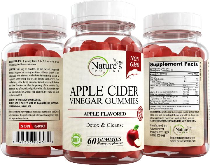 Apple Cider Vinegar Gummies Alternative to Apple Cider Vinegar Capsules, Pills