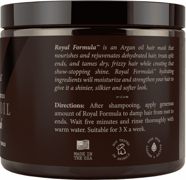 Royal Formula Argan Oil Hair Mask Deep Conditioning Treatment How To Use Instructions