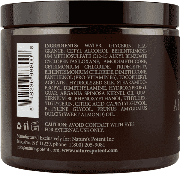 Royal Formula Argan Oil Hair Mask Ingredients