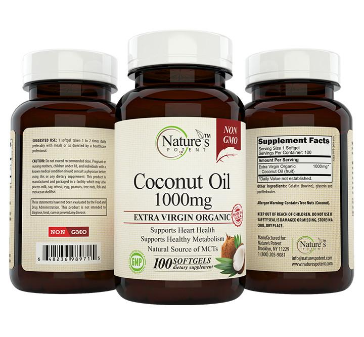 Coconut Oil 1000mg Capsules