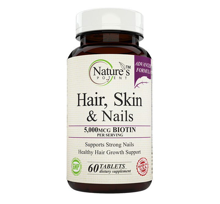Nature\'s Potent - Hair, Skin & Nails, Vitamins for Hair Growth