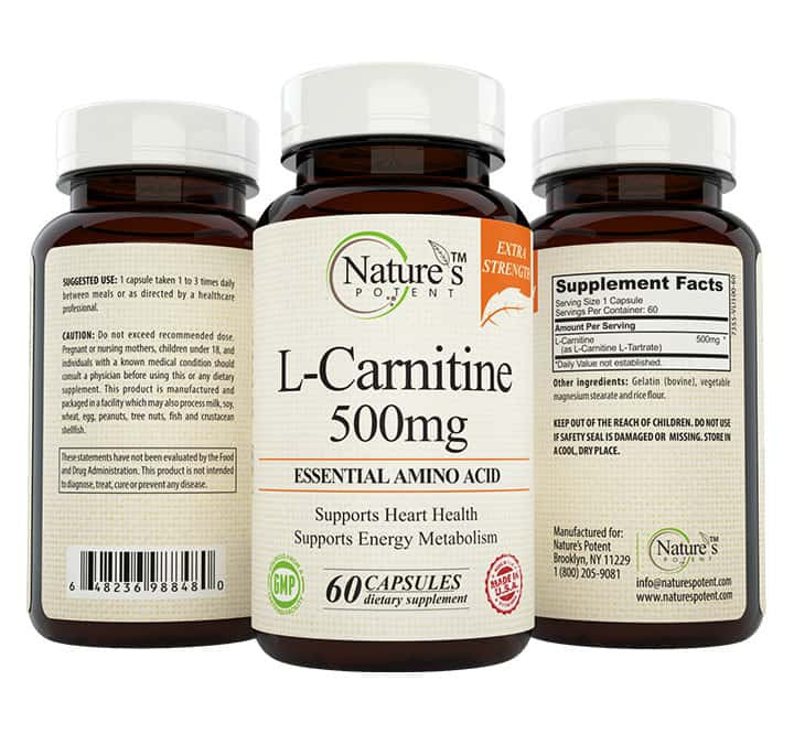 L- Carnitine Tartrate 500 Mg