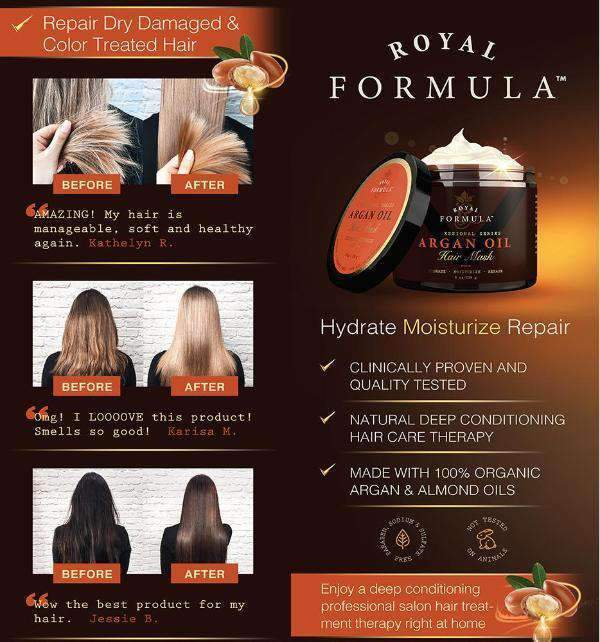 Royal Formula Argan Oil Hair Mask - Results - Before and After