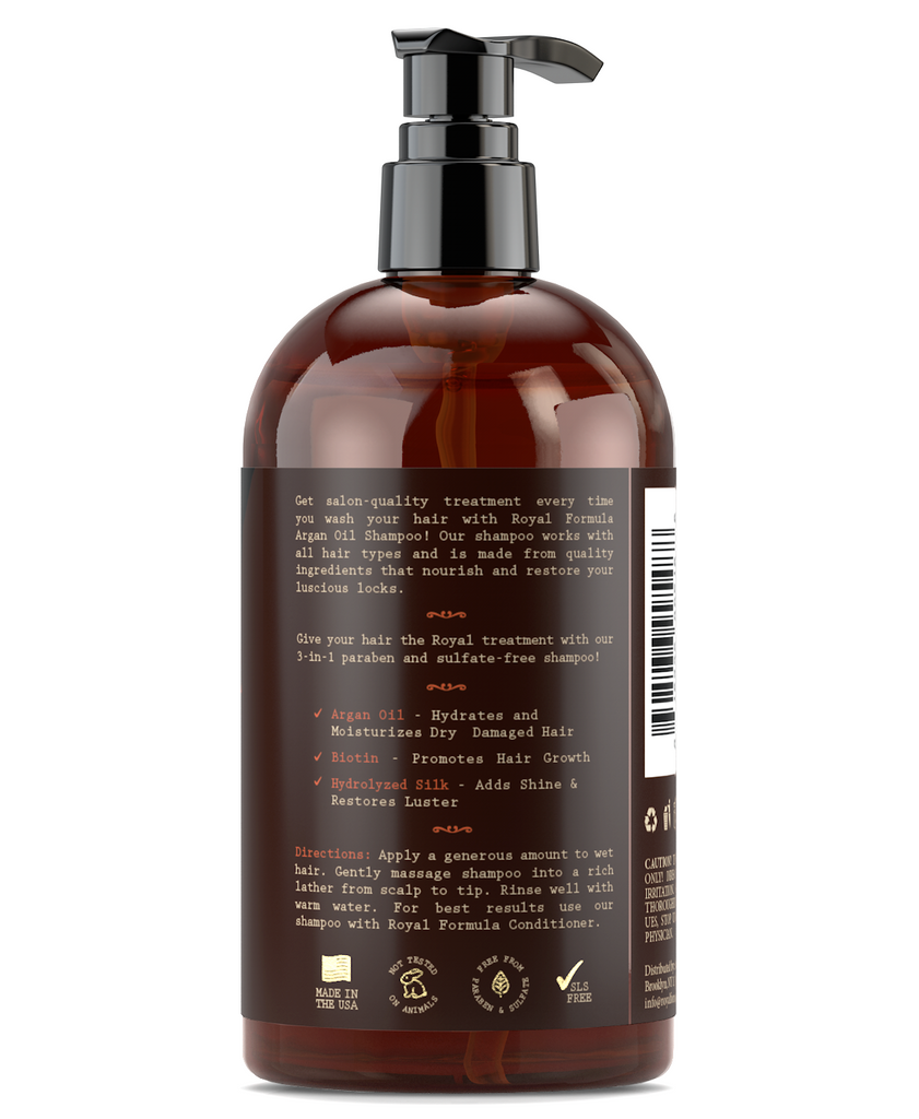 Royal Formula - Argan Oil Shampoo [ how to use ] Sulfate, Paraben, Sodium Free
