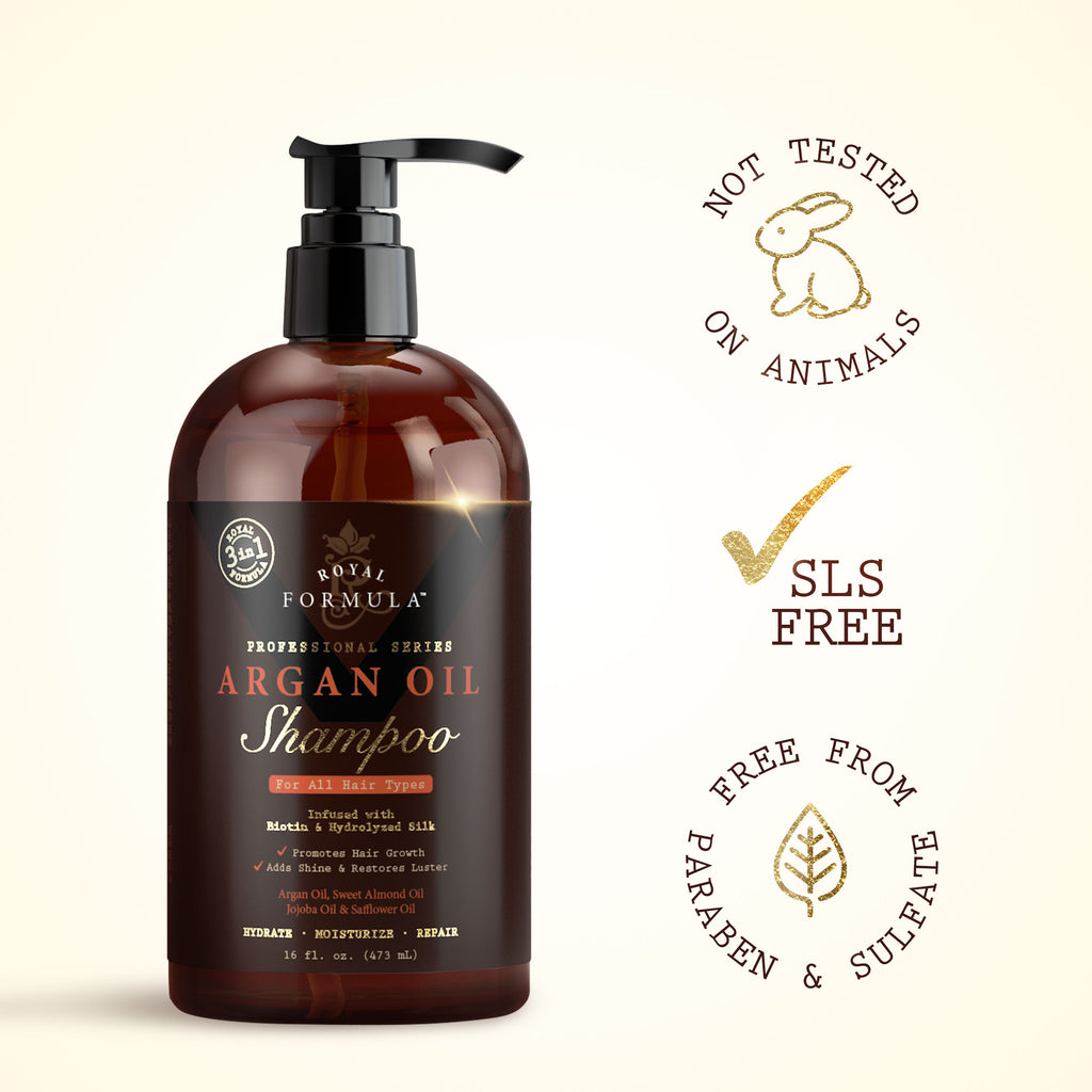 Royal Formula - Argan Oil Shampoo Sulfate, Paraben, Sodium Free Infused with Biotin Image #3