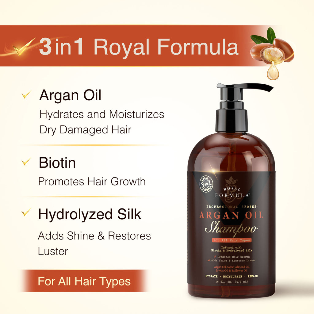 Royal Formula - Argan Oil Shampoo Sulfate, Paraben, Sodium Free Infused with Biotin Image #2