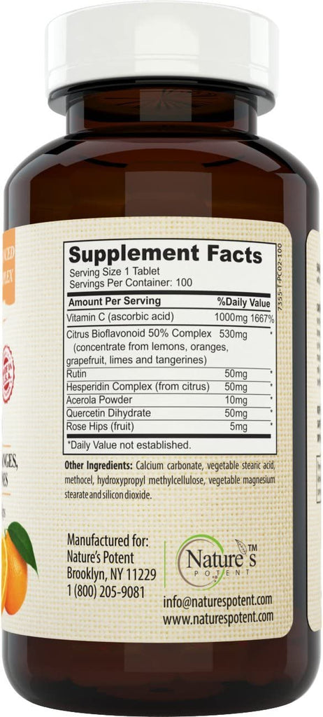 Zinc 50mg + Vitamin C 1000mg Immune System Support