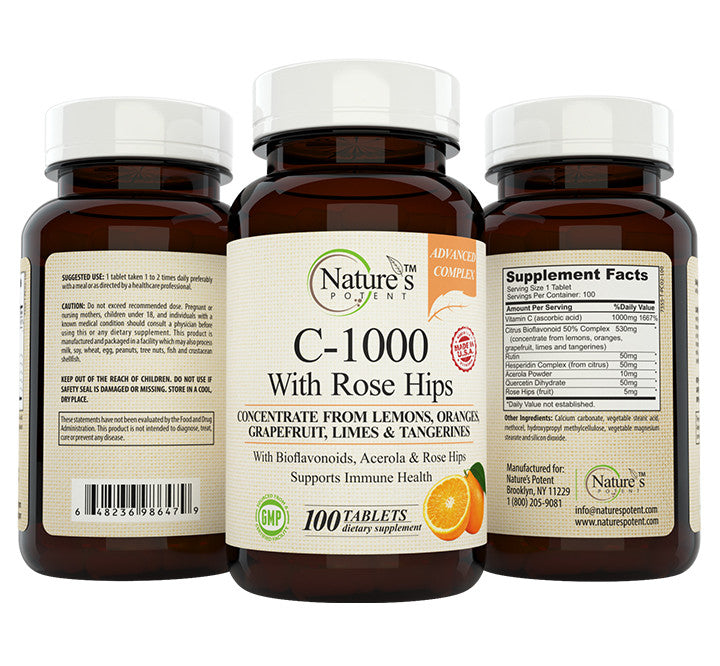 Vitamin C-1000 Mg with Rose Hips