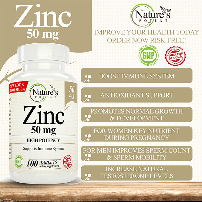 Zinc 50mg Supplement Benefits
