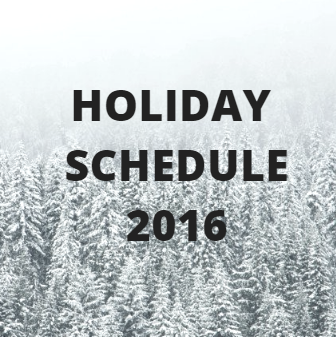 Holiday Schedule 2016: Don't miss these dates!