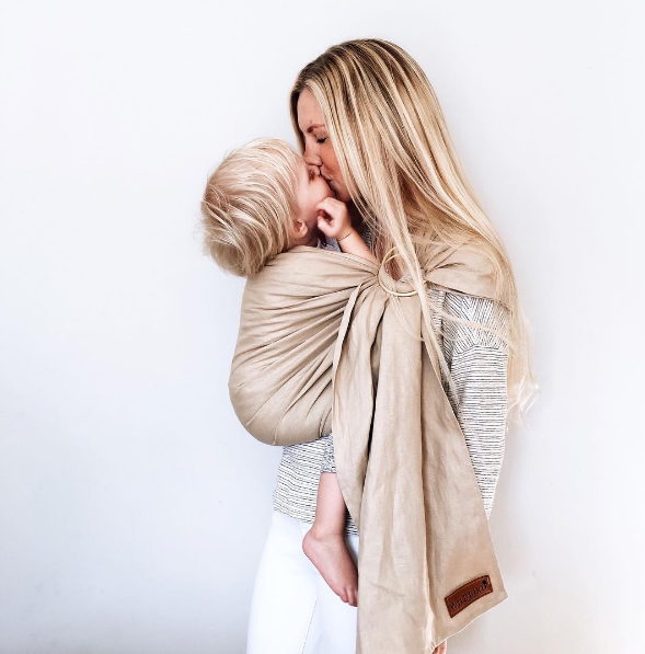Benefits of Babywearing: Featured sling by Wildbird