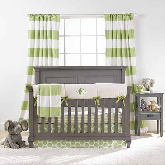 Pantone 2017 Color of the Year: Greenery used in a baby nursery