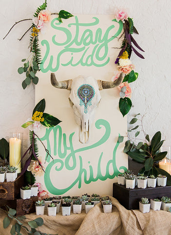 boho-chic-spring-baby-shower-theme