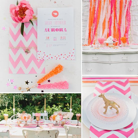 gold-and-pink-baby-shower-theme