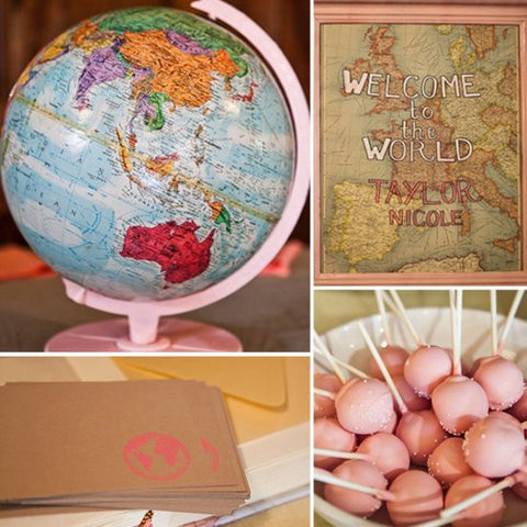 vintage-map-spring-baby-shower-theme