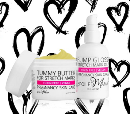 VDay Give Away, tummy butter for stretch marks, bump gloss pregnancy stretch mark oil | The Spoiled Mama, pregnancy skincare