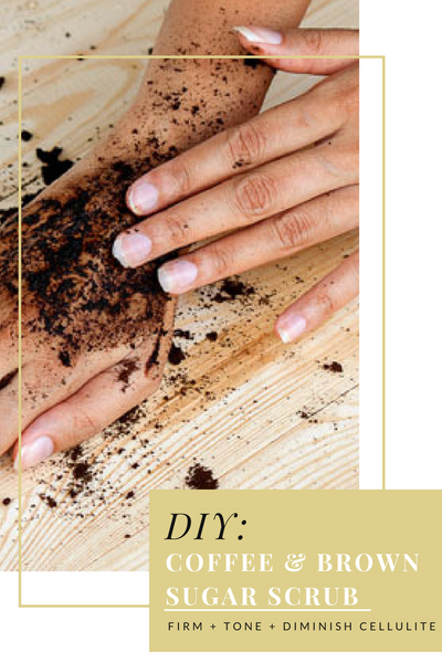 DIY: Coffee Ground Scrub w/ Brown Sugar: Diminish cellulite & tighten skin!