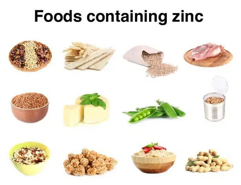 Food containing zinc