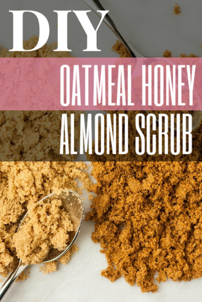 DIY Oatmeal Honey Almond Scrub - perfect for itchiness in pregnancy!
