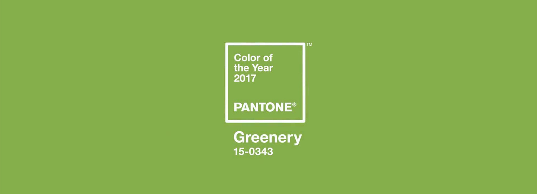 "Pantone Color of the Year 2017: ""Greenery"""